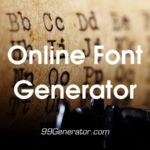 Online Font Generator