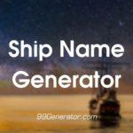 Random Ship Name Generator Tools